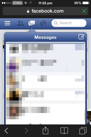 how to check facebook messages without messenger