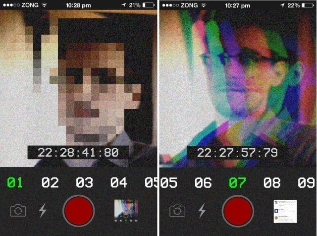 funny anti-selfies app iphone russian language pixelation 3d effect