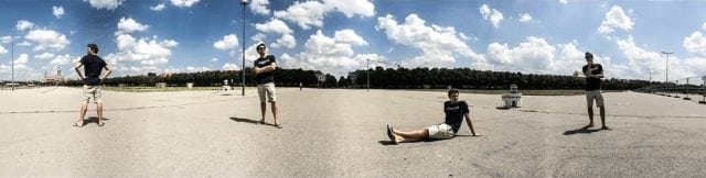 iphone multiple exposure photography with panorama