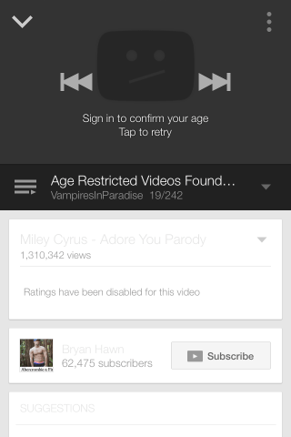 remove age restriction iphone youtube app