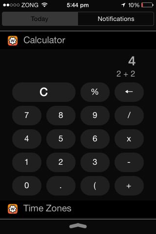 ios 8 widgets calculator