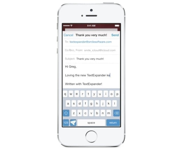 text expansion for iOS 8 with TextExpander