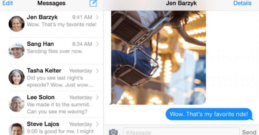 contact photos in iphone 6 plus messages