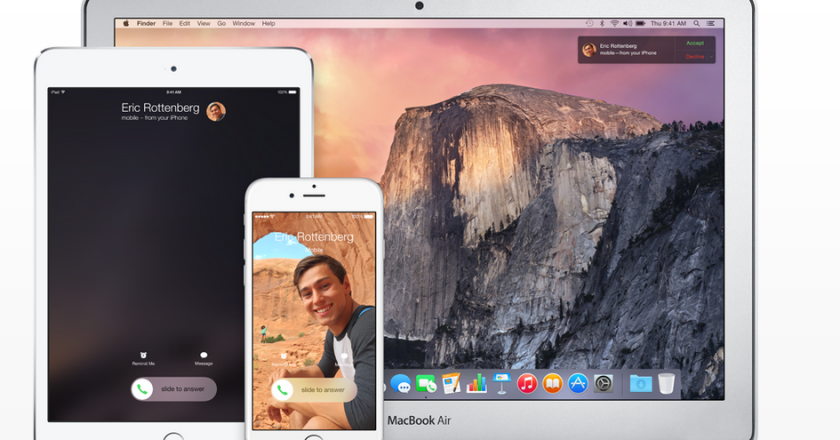 yosemite continuity ipad iphone mac