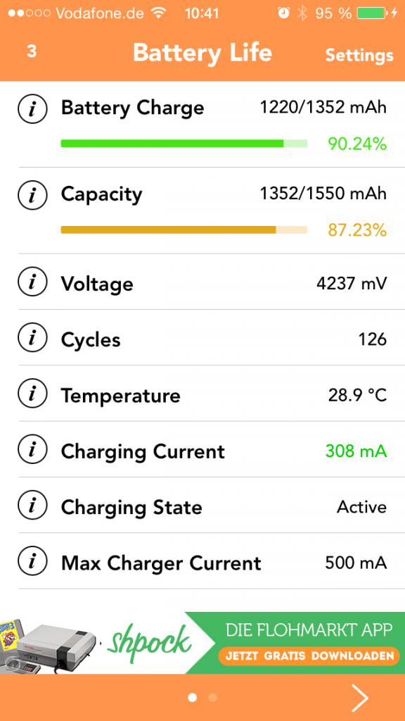 check battery cycles iphone ipad