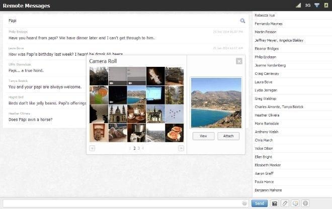 remote messages send emoji and photos
