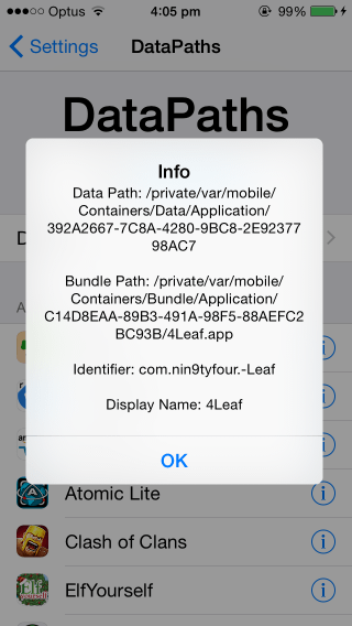 How To Quickly Find And Open iOS App Sandbox Path In iFile