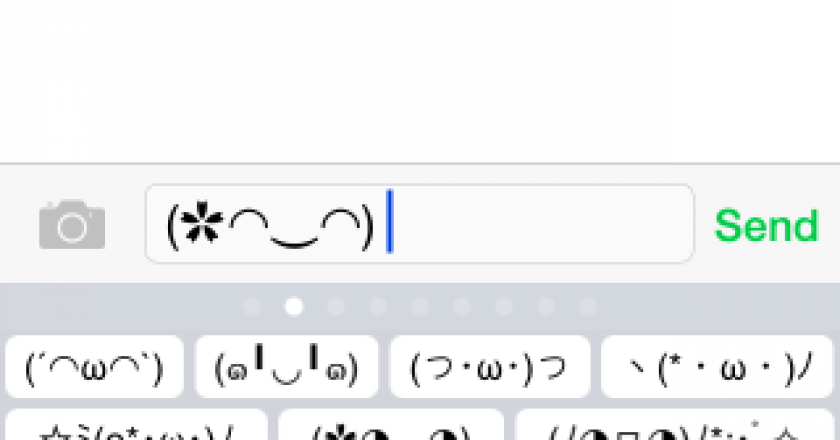 japanese emoji kaomoji keyboard