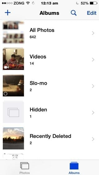 difference between camera roll my photo stream