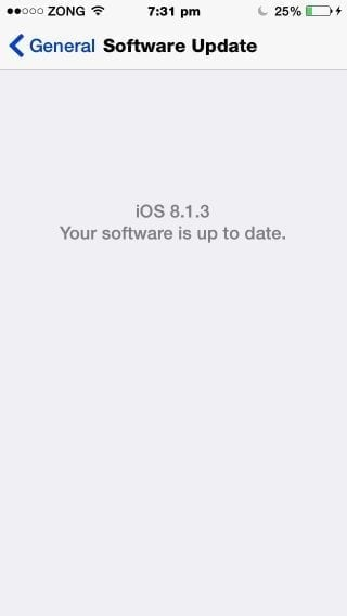 ios 8.1.3 software update
