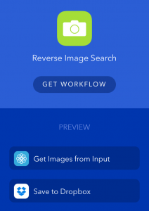 reverse image search workflow
