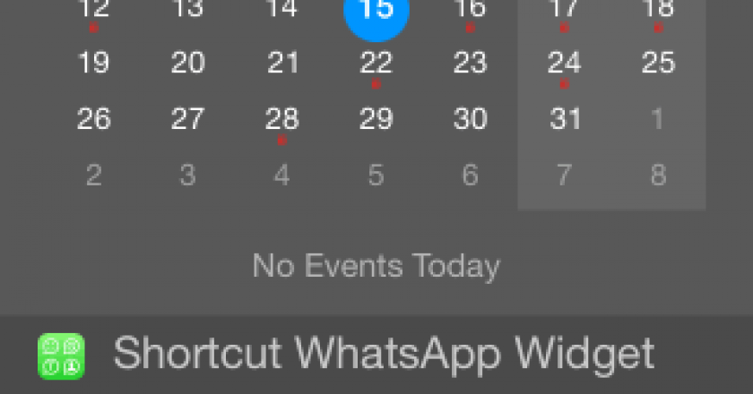 whatsapp widget ios 8