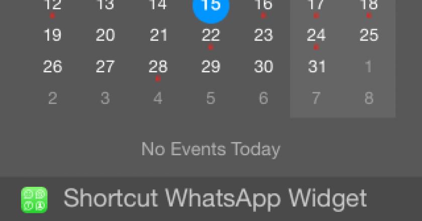 whatsapp widget ios 8