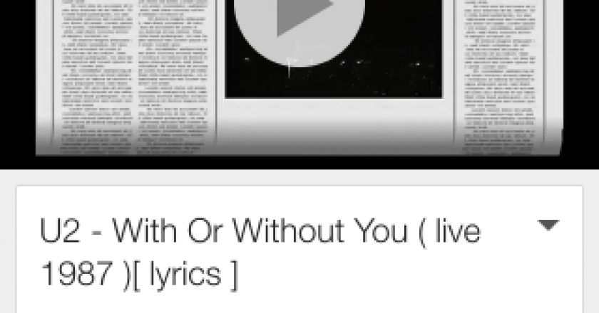 youtube with or without you