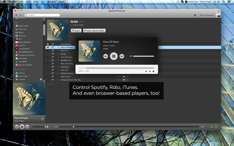 simplify for mac control playback