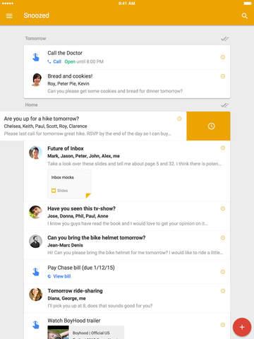 google inbox for ipad