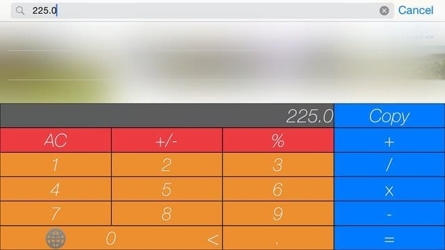 keycalc calculator keyboard widget ios 8