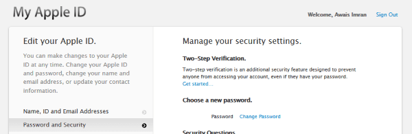 two factor authentication facetime imessage apple id