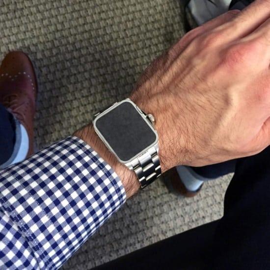 38mm Apple Watch mockup on wrist