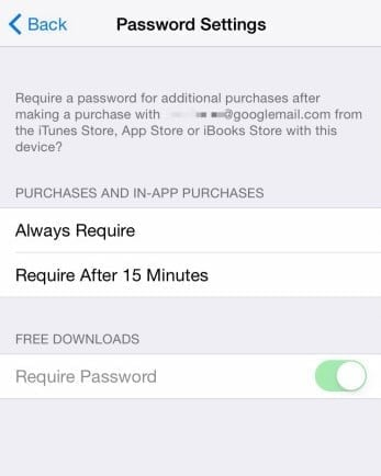 download free apps without entering password ios 8.3