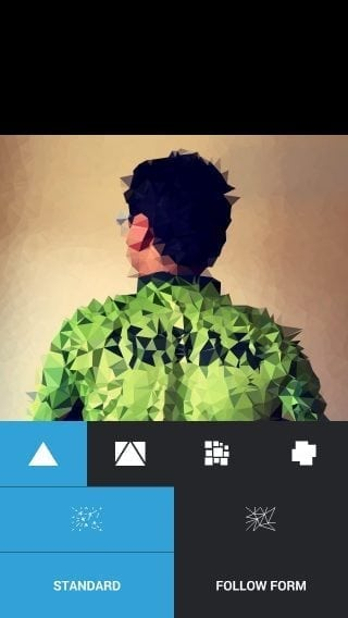 how to make low poly artwork iphone with trigraphy
