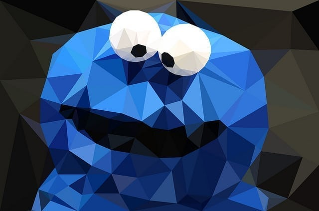 low poly cookie monster