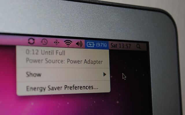 macbook air battery level