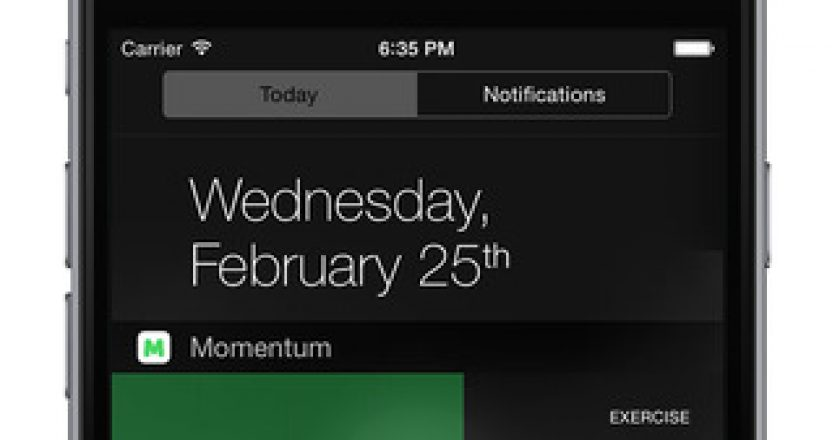 momentum ios widget notification center