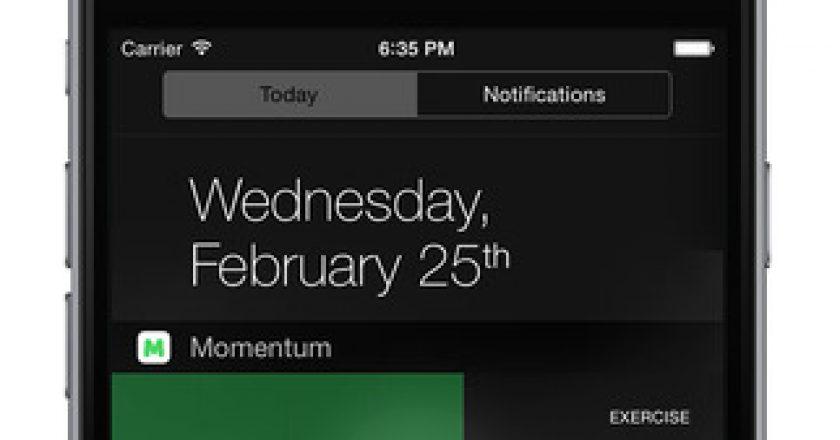 momentum ios widget notification center