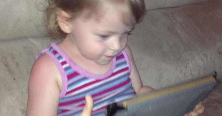 Baby Girl with IPad