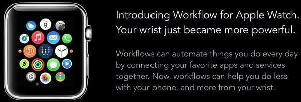 Workflow for Apple Watch 1