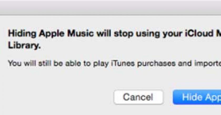 hide apple music app