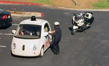 Google Car gets busted