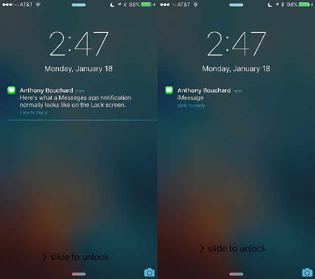 iphone lock screen notifications how to hide notification previews from lock screen 4938