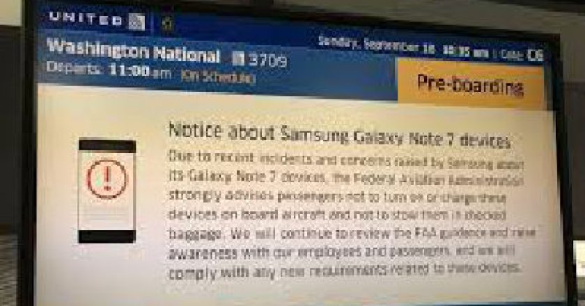 Note 7 Banned