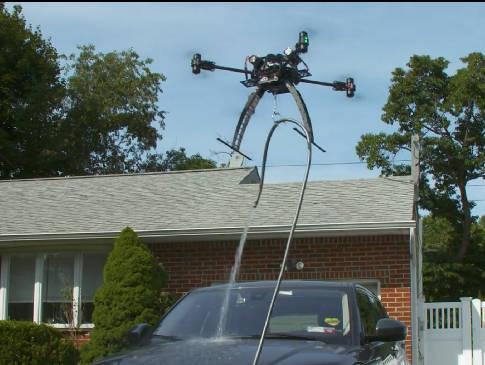 car washing drone