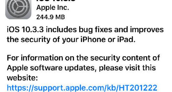 Apple OS Updates