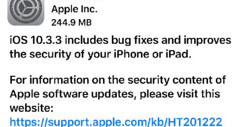 Apple OS Updates