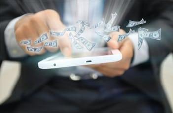 Mobile Technology Tablet money