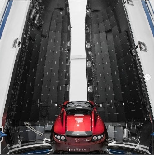 Falcon Heavy Red Roadster