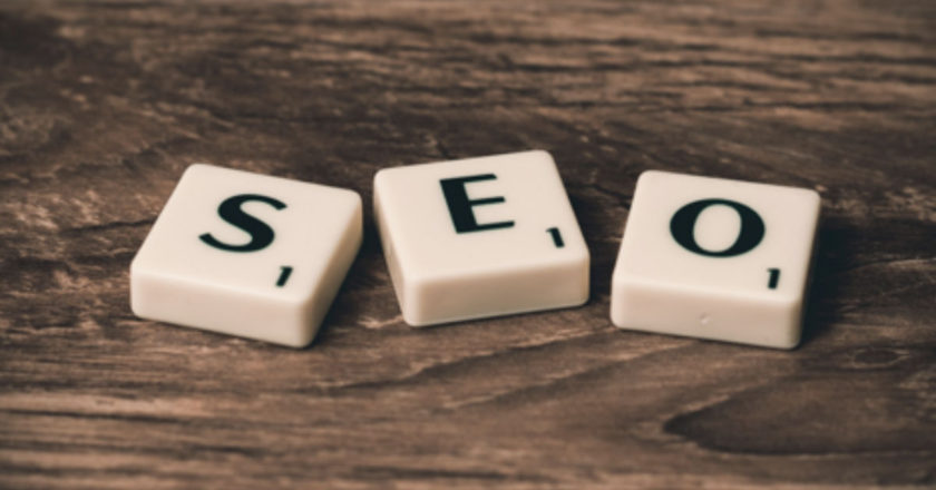 Scrabble tiles spelling SEO, Google Search Results