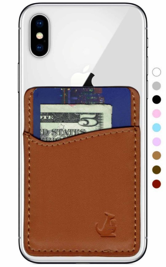 Leather Phone Wallet, stick on phone wallet, stick on phone, phone wallet, Stick on Leather phone wallet