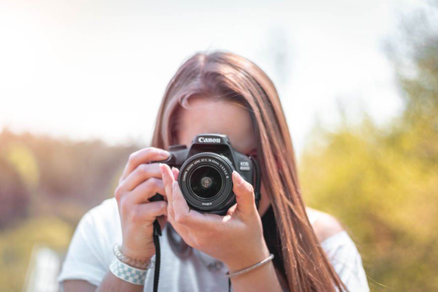 Woman Photographer, taking picture