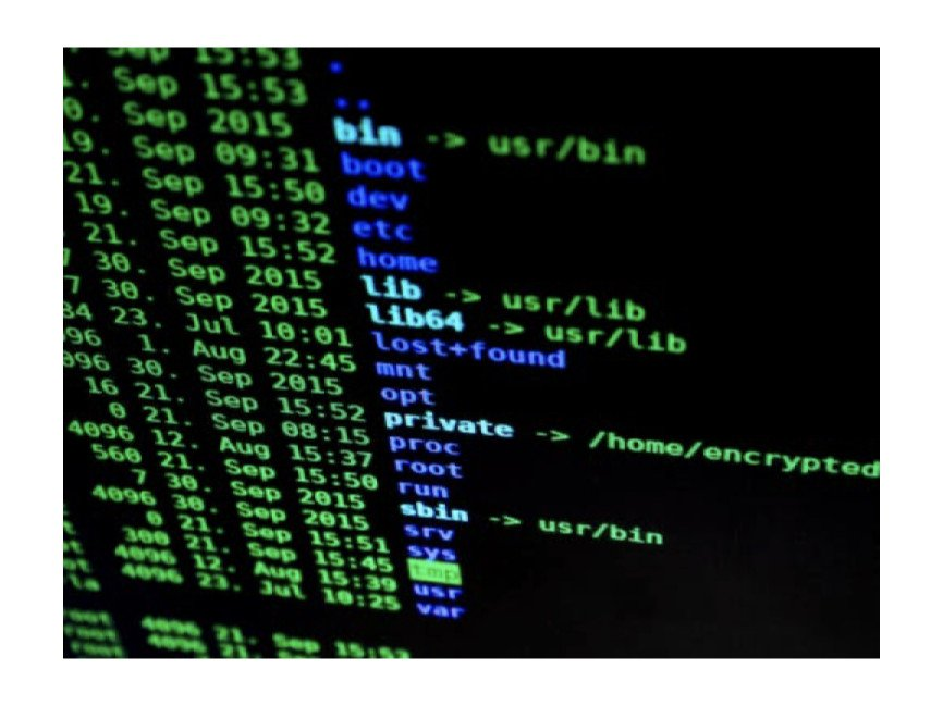 Code on computer monitor