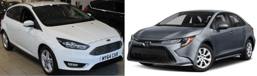 Toyota Corolla, Ford Focus