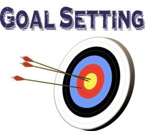 Target representing goal setting