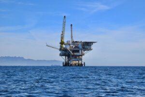 Oil Rig on ocean
