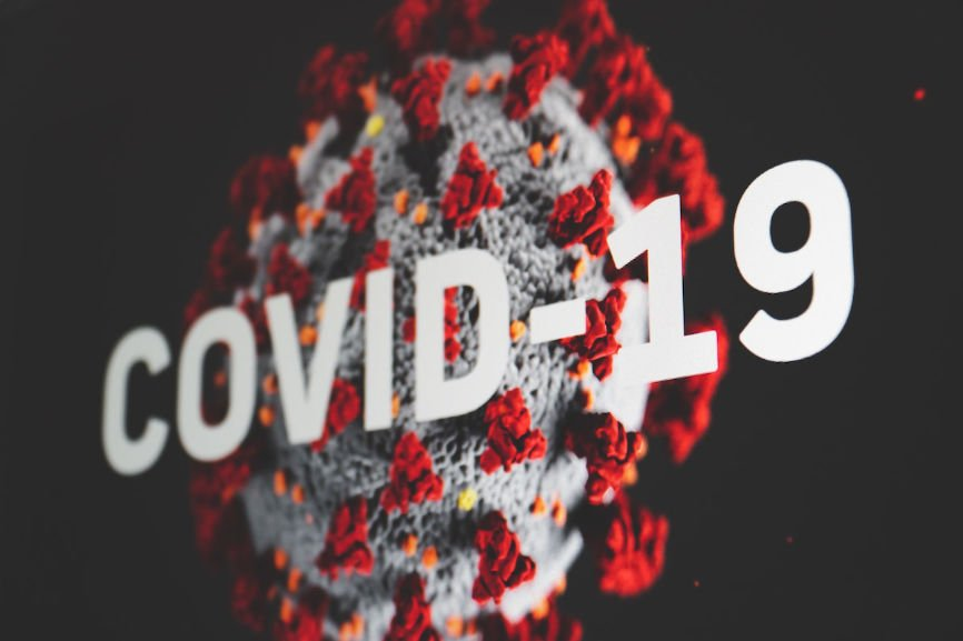 Graphic showing COVID-19