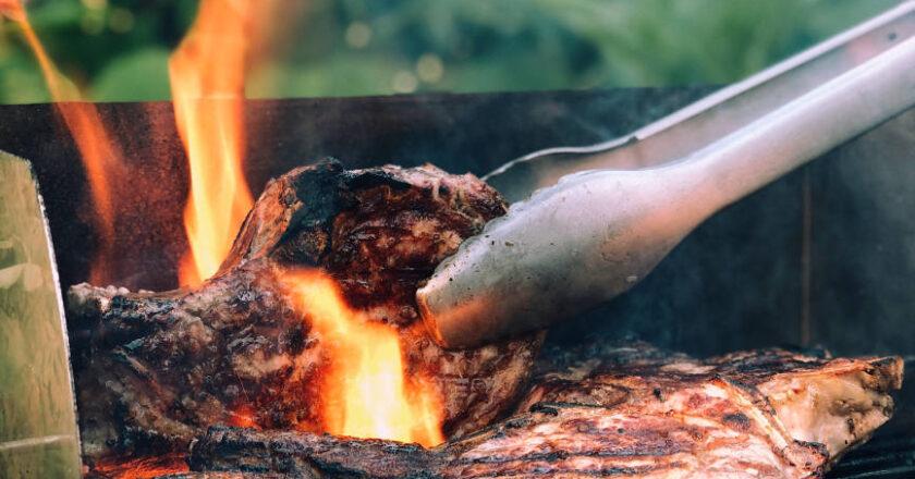 Steak on the Bar-B-Q Grill