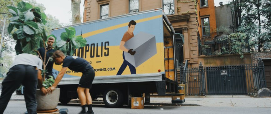Movers and moving truck in New York